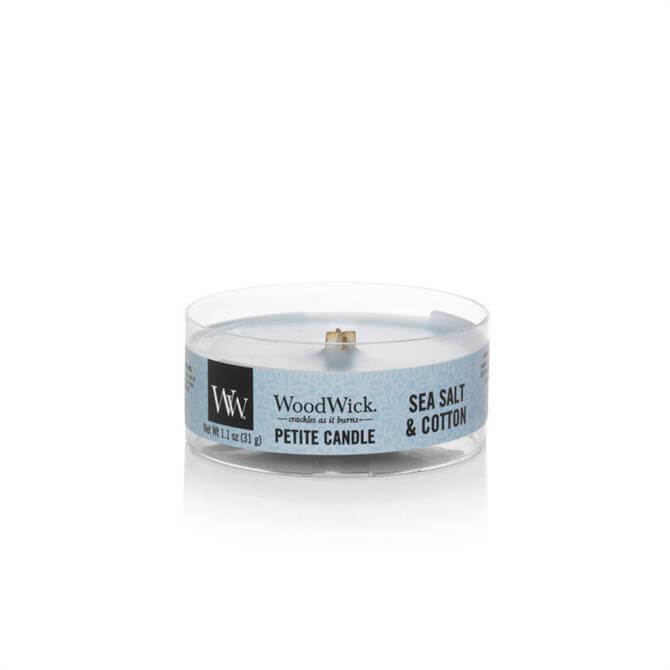 Woodwick Seasalt & Cotton Petite Candle