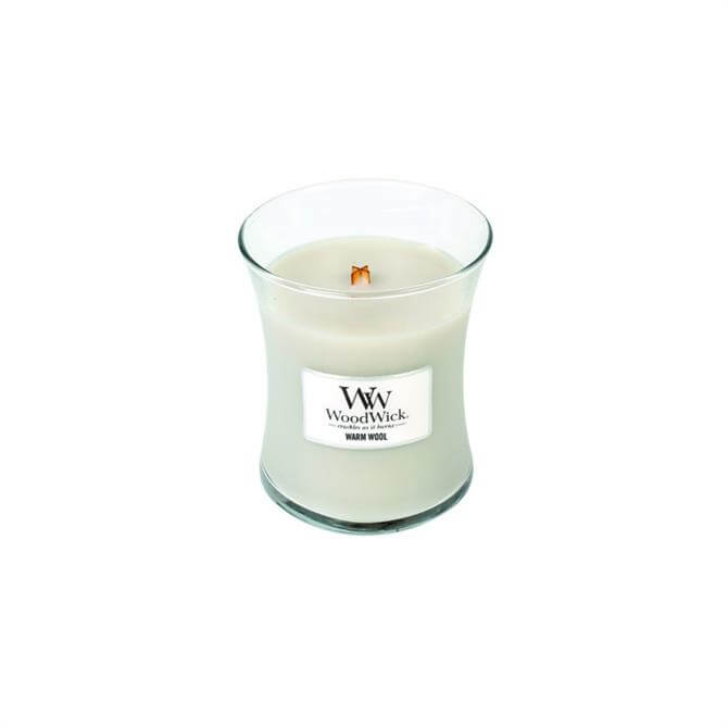 Woodwick Warm Wool Medium Hourglass Candle