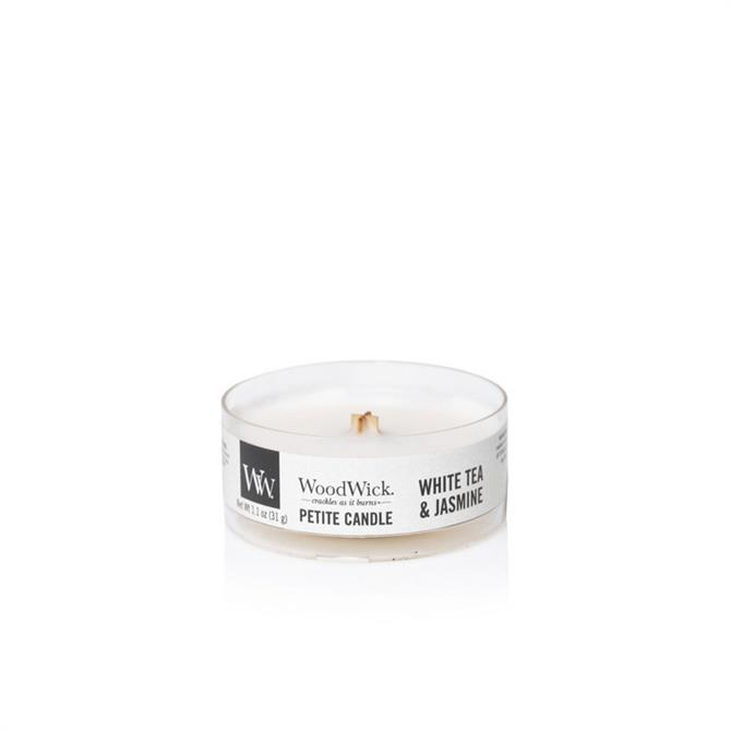 Woodwick White Tea & Jasmin Petite Candle