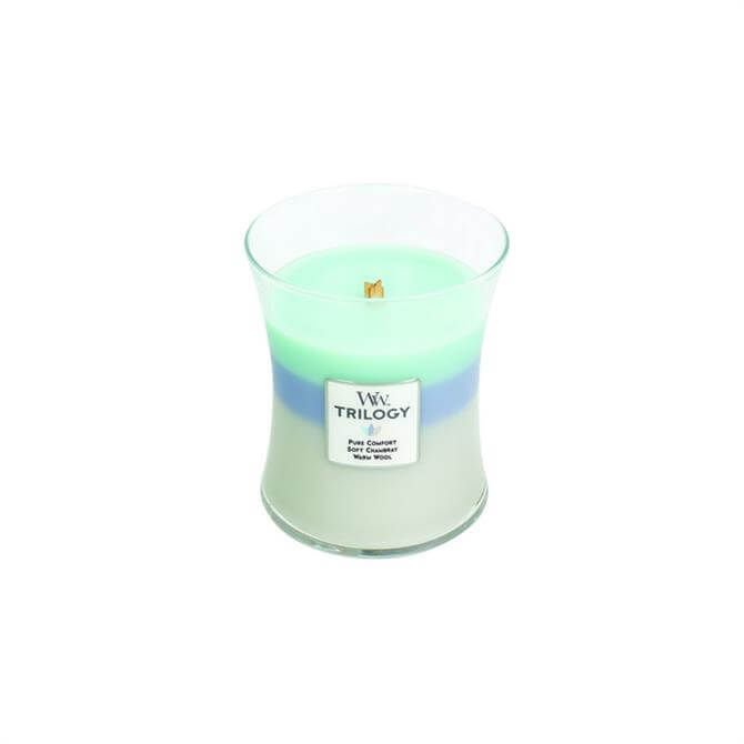 Woodwick Woven Comforts Trilogy Medium Hourglass Candle
