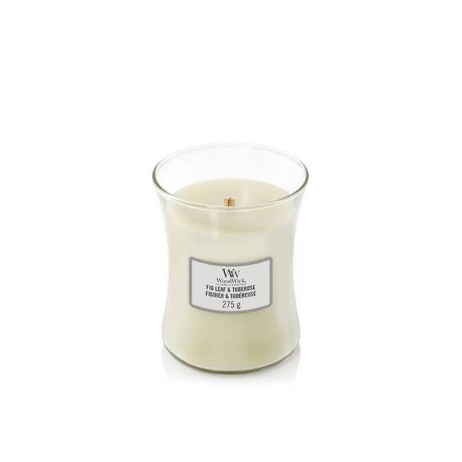 Woodwick Fig Leaf & Tuberose Medium Hourglass Candle