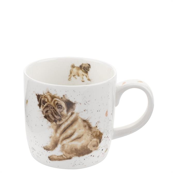 Royal Worchester Wrendale Pug Love Mug