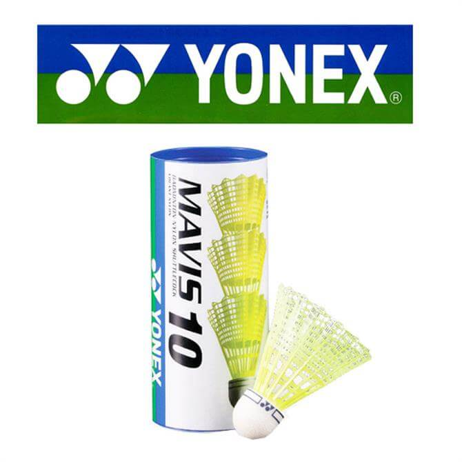 Yonex Mavis 10 Shuttlecocks - 3- Tube Yellow