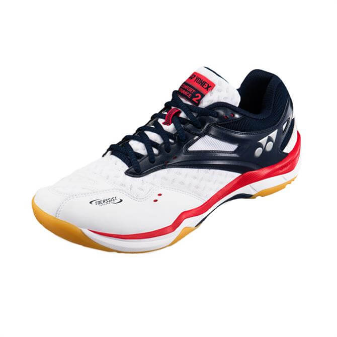 Yonex Women's Power Cushion Comfort Advance 2 Badminton Shoe- White/Navy