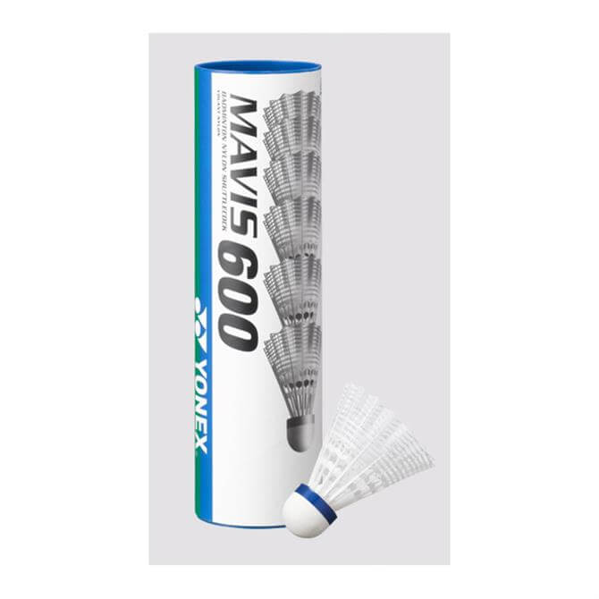 Yonex Mavis 600 Shuttlecocks - 6-Tube White