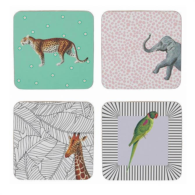 Yvonne Ellen Set of 4 Animal Coasters
