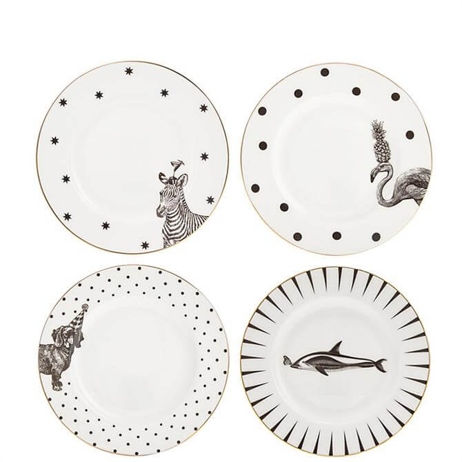 Yvonne Ellen Set of 4 Animal Side Plates