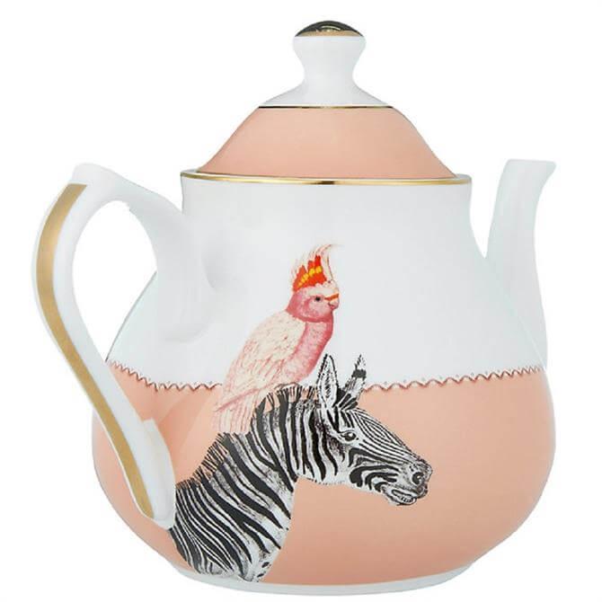 Yvonne Ellen Cockatoo & Zebra Teapot