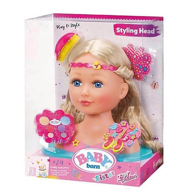 Zapf Creation Baby Born Sister Styling Head