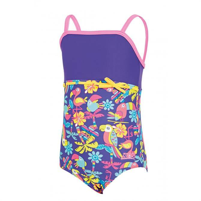 Zoggs Jungle Fun Classic Back Girls Swimsuit