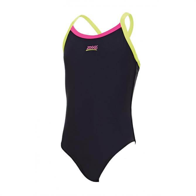 Zoggs Junior Kerrawa Strikeback Swimsuit- Black