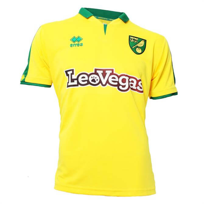 Norwich City Football Club Men's Short Sleeve Replica Shirt 2017/18