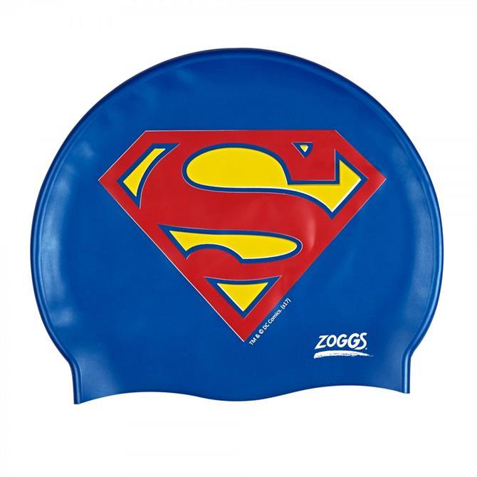 Zoggs Junior Superman Silicone Swim Cap