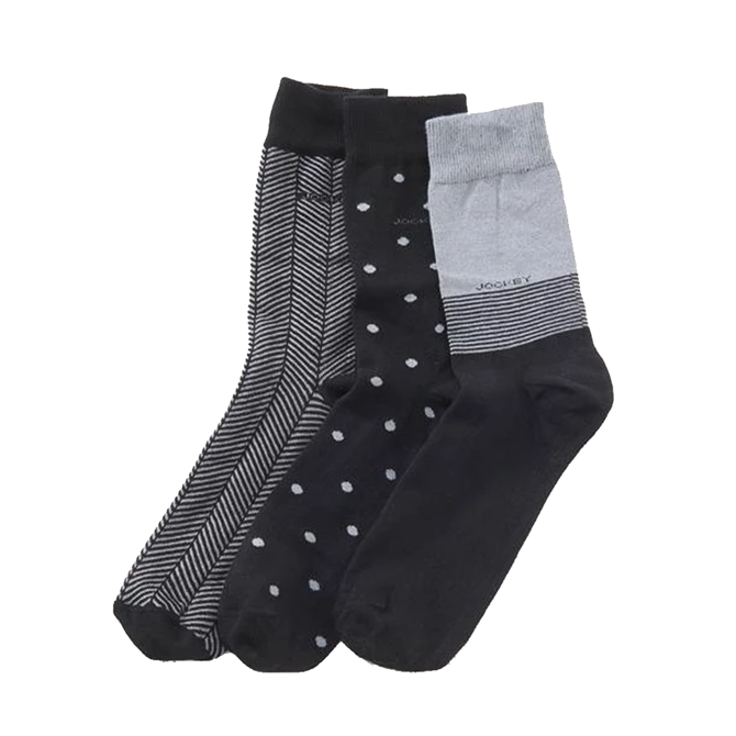 Jockey Mixed Print Socks 3 Pack