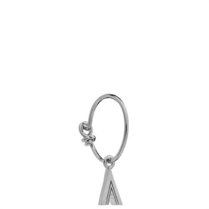 Rachel Jackson London Sterling Silver Initial Hoop Earrings