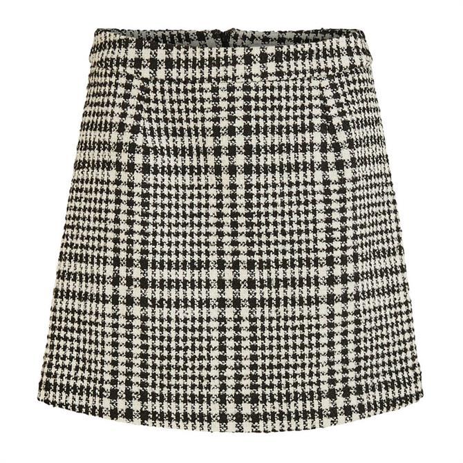Vila Ceyla Check Print Mini Skirt