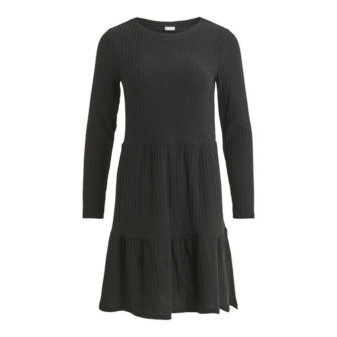 Vila Elita Tiered Rib Knit Dress