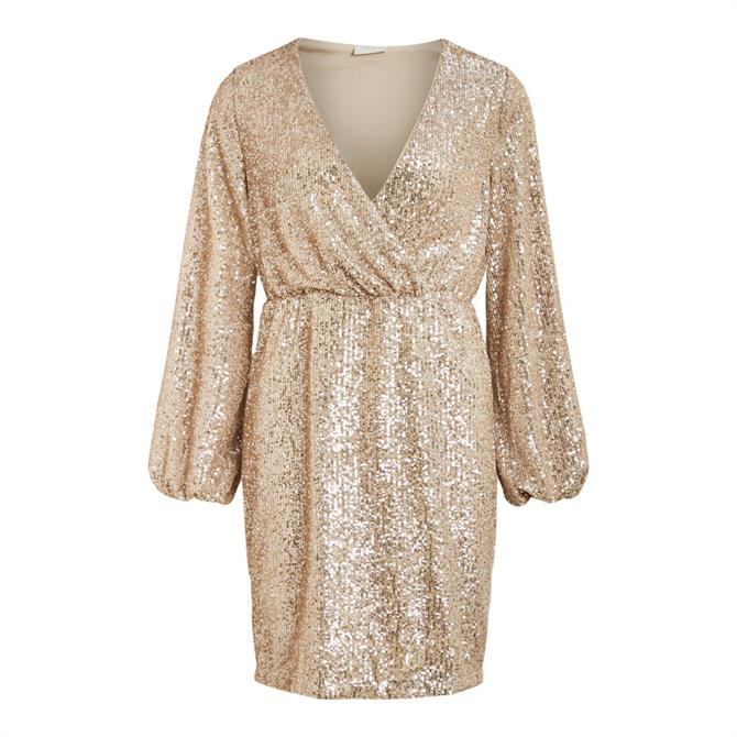 Vila Lyc Sequin Embellished Dress