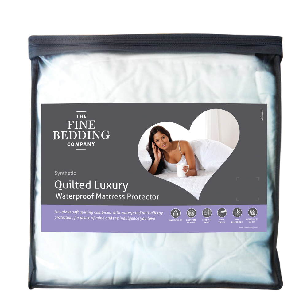 An image of The Fine Bedding Company Quilted Luxury Waterproof Protector - SINGLE