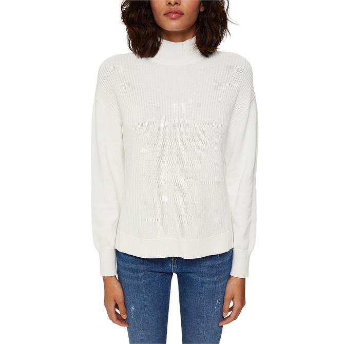 Esprit Long Sleeve Sweater with Low /High Side Hem