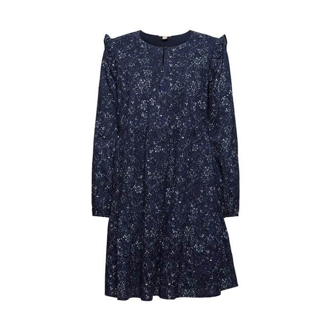 Esprit 100% Cotton Knee Length Printed Dress