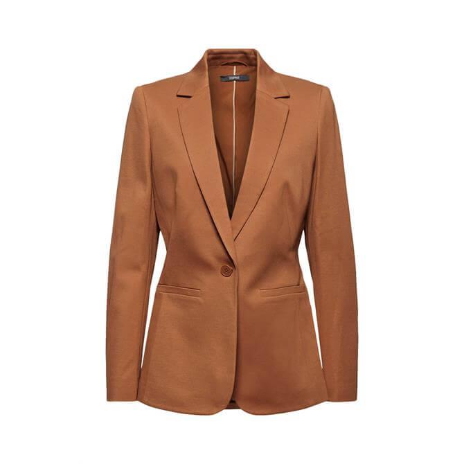 Esprit  SOFT PUNTO Mix + Match Jersey Blazer Caramel
