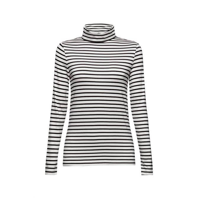 Esprit Long Sleeve Striped Top With Glitter